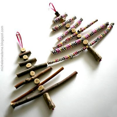 Earring how can i recycle this Christmas tree ideas using recycled materials