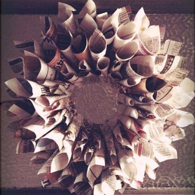 paper - Recycled Christmas Decor